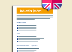 Job ads in English